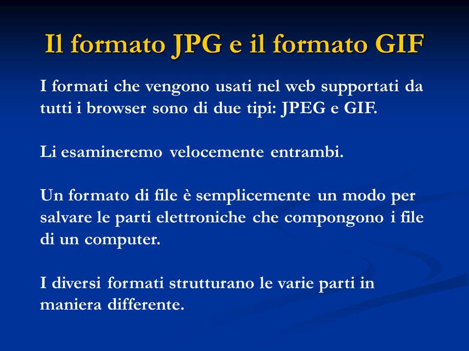 Il formato JPG e il formato GIF