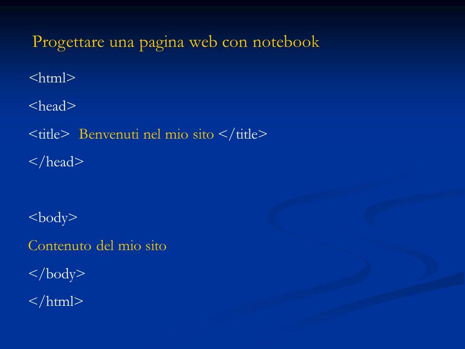 Progettare una pagina web con notebook