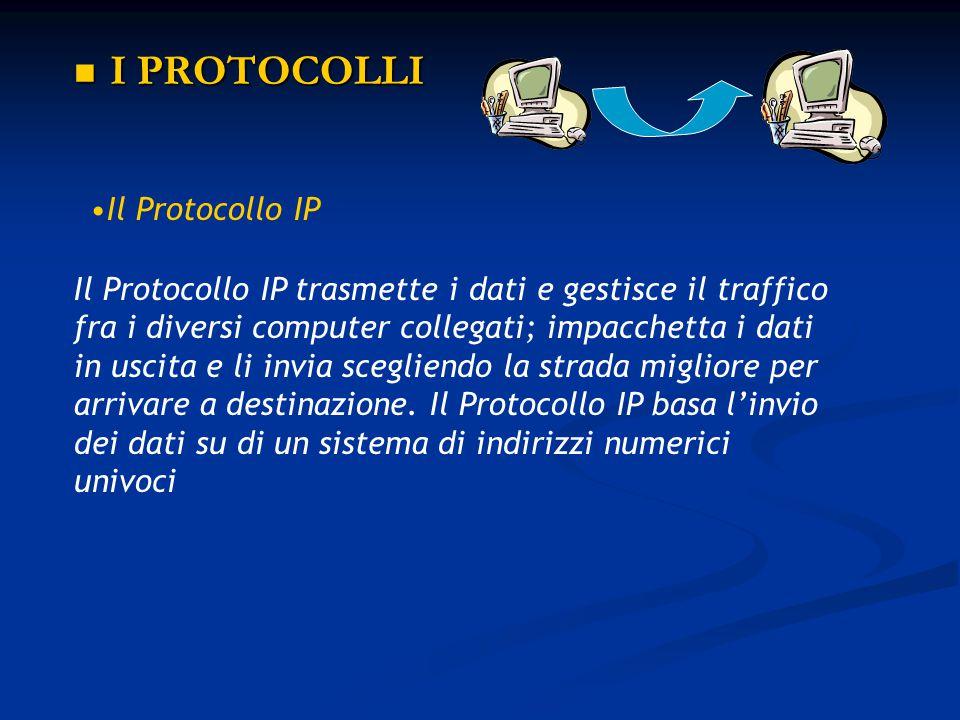 I PROTOCOLLI Il Protocollo IP