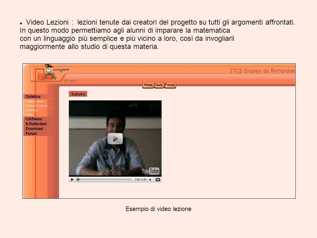 Esempio di video lezione