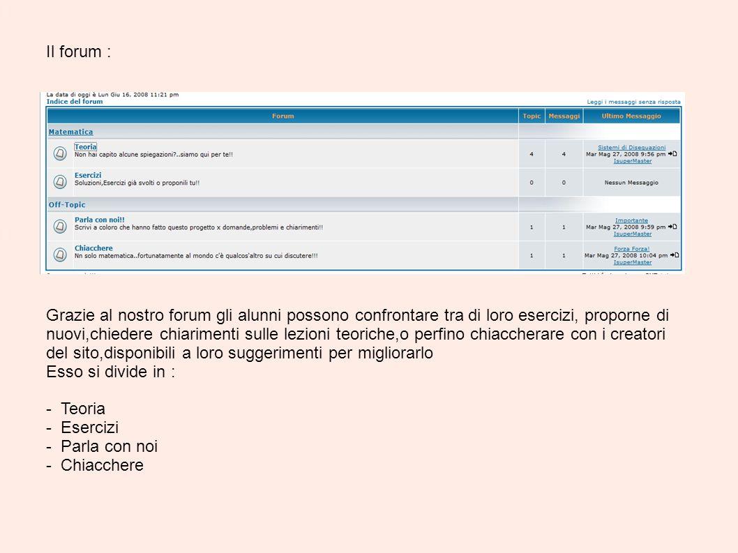 Il forum :