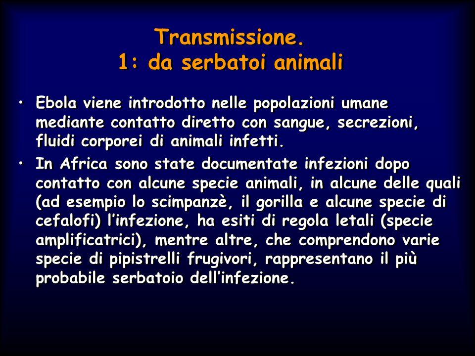 Transmissione. 1: da serbatoi animali