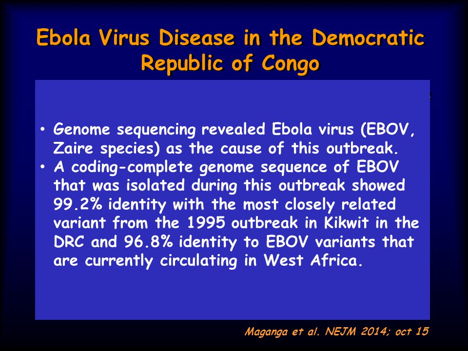 Ebola Virus Disease in the Democratic Republic of Congo