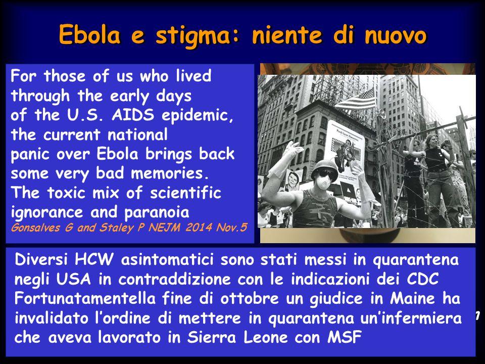 Ebola e stigma: niente di nuovo