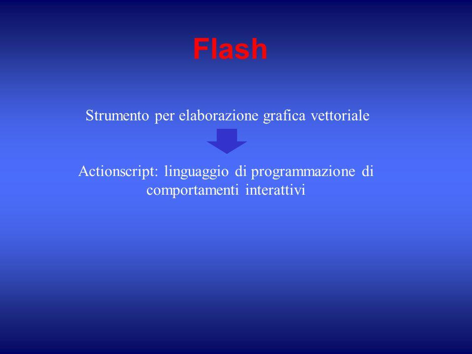 Flash Strumento per elaborazione grafica vettoriale