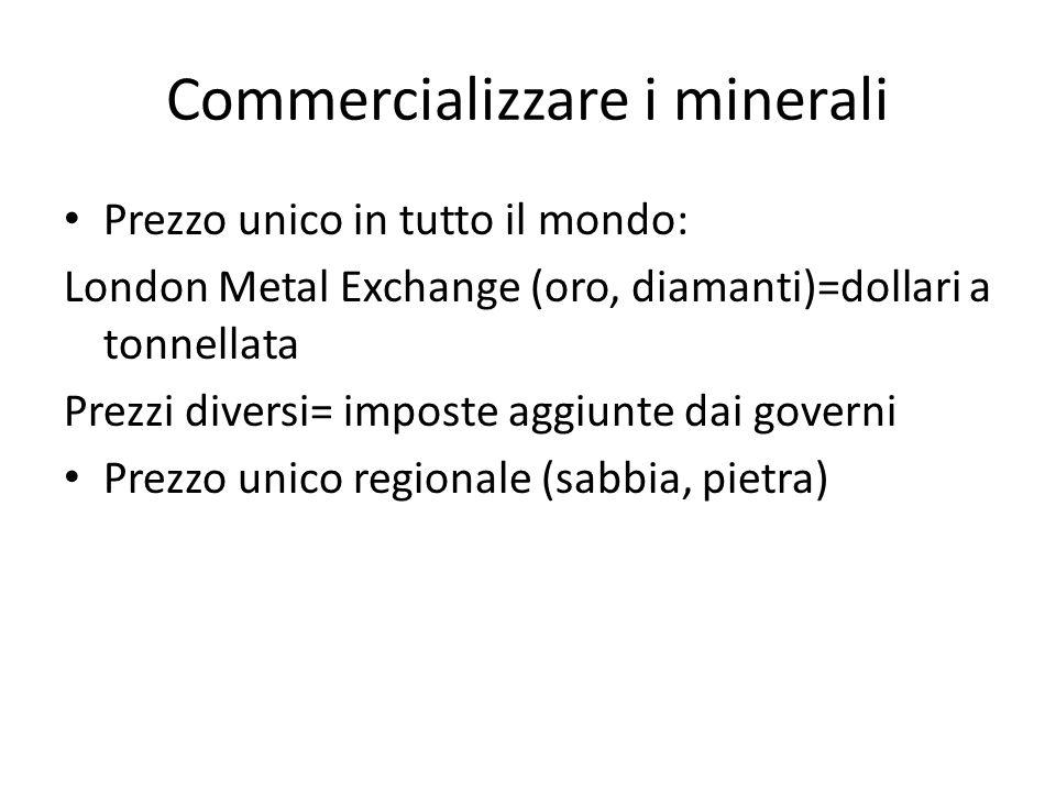 Commercializzare i minerali