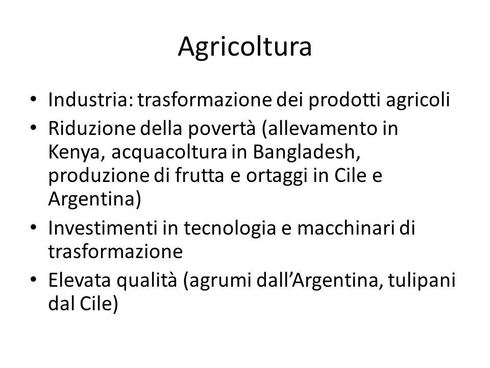 Agricoltura Industria: trasformazione dei prodotti agricoli