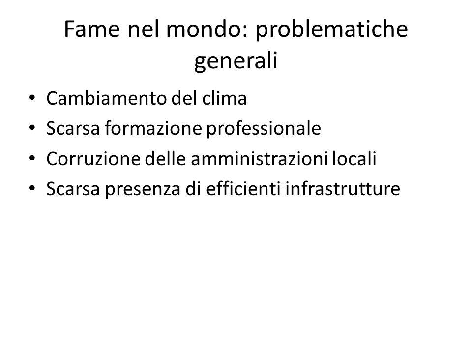 Fame nel mondo: problematiche generali