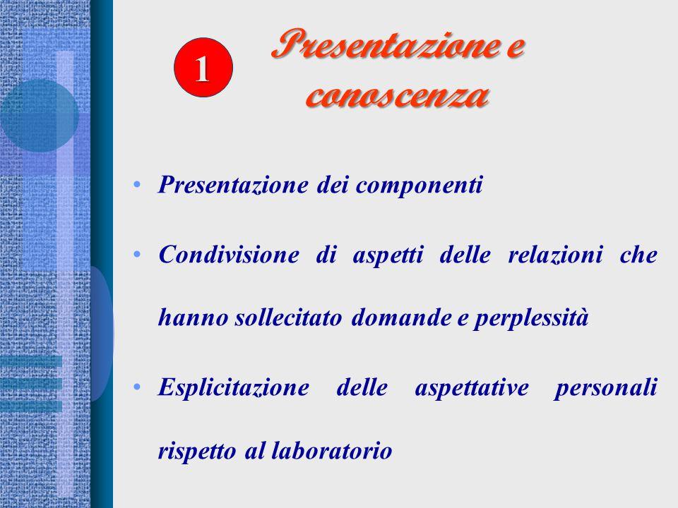 Presentazione e conoscenza