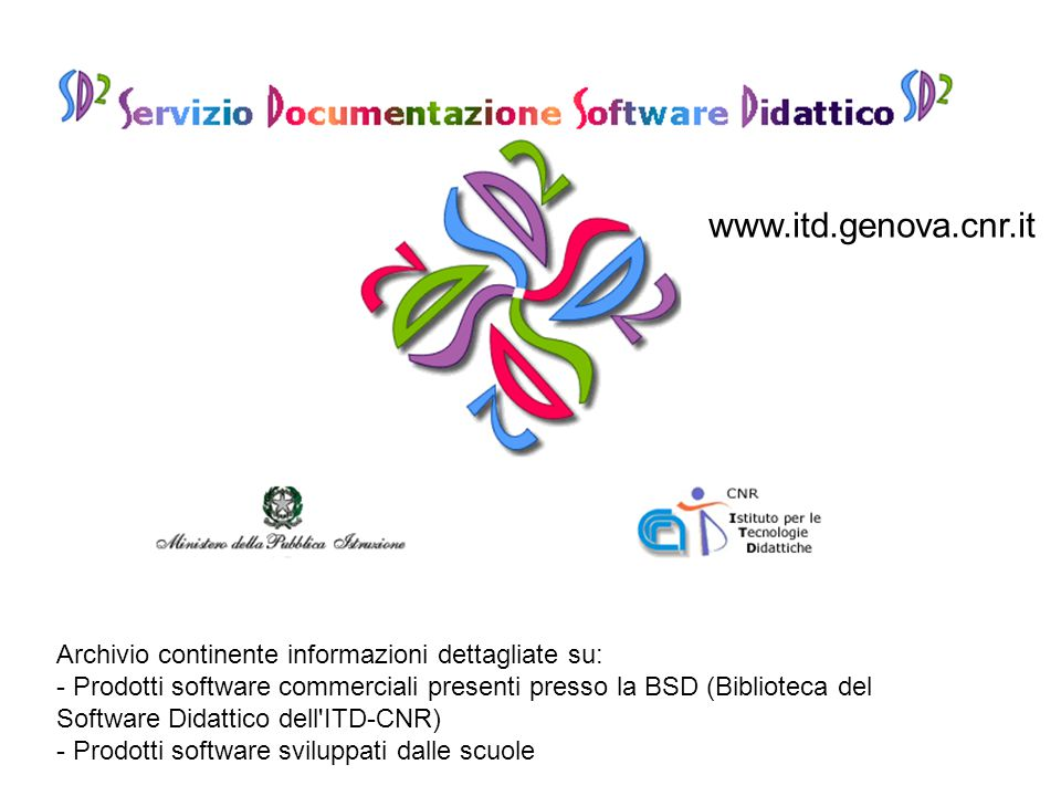 www.itd.genova.cnr.it Archivio continente informazioni dettagliate su: