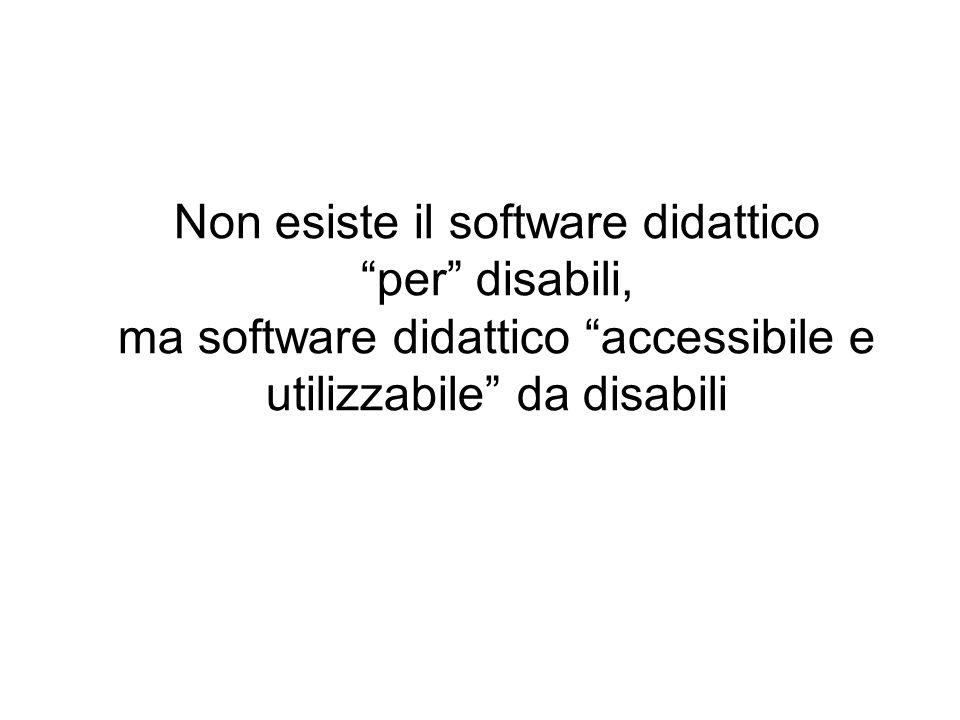 Non esiste il software didattico per disabili,