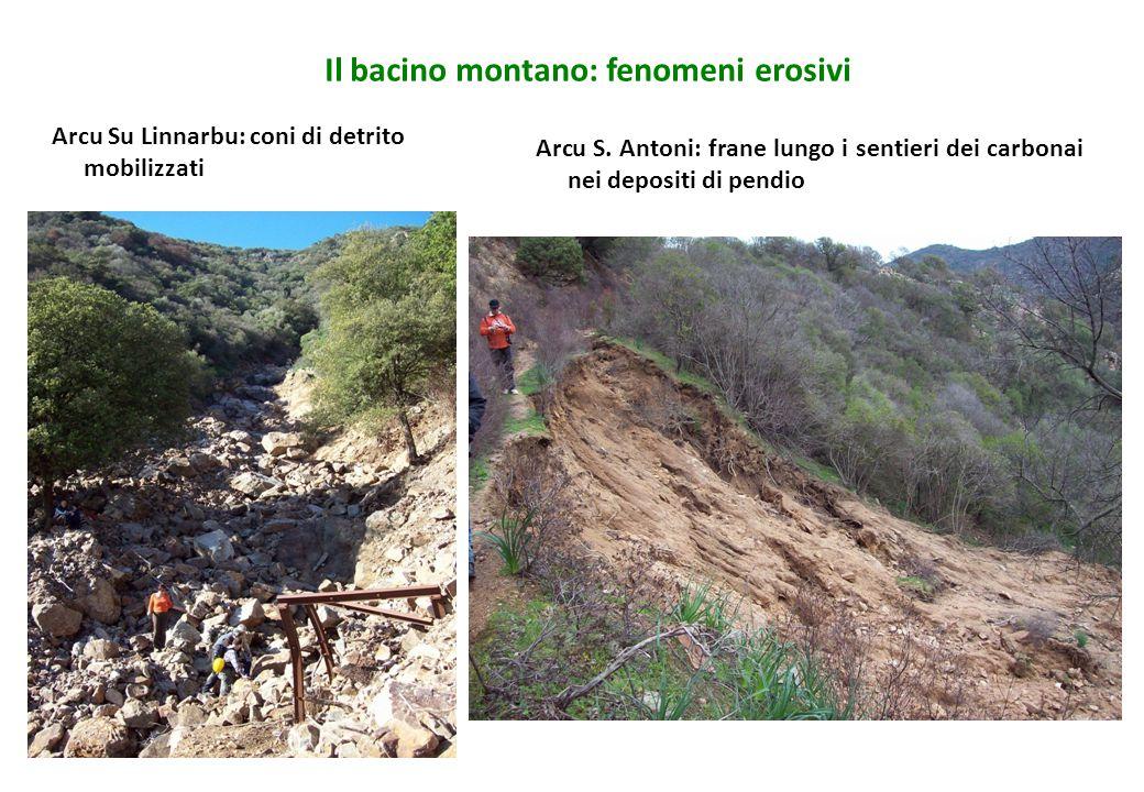 Il bacino montano: fenomeni erosivi