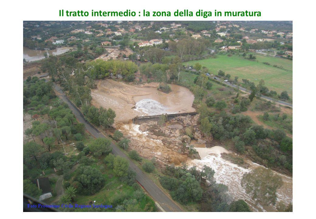 Il tratto intermedio : la zona della diga in muratura