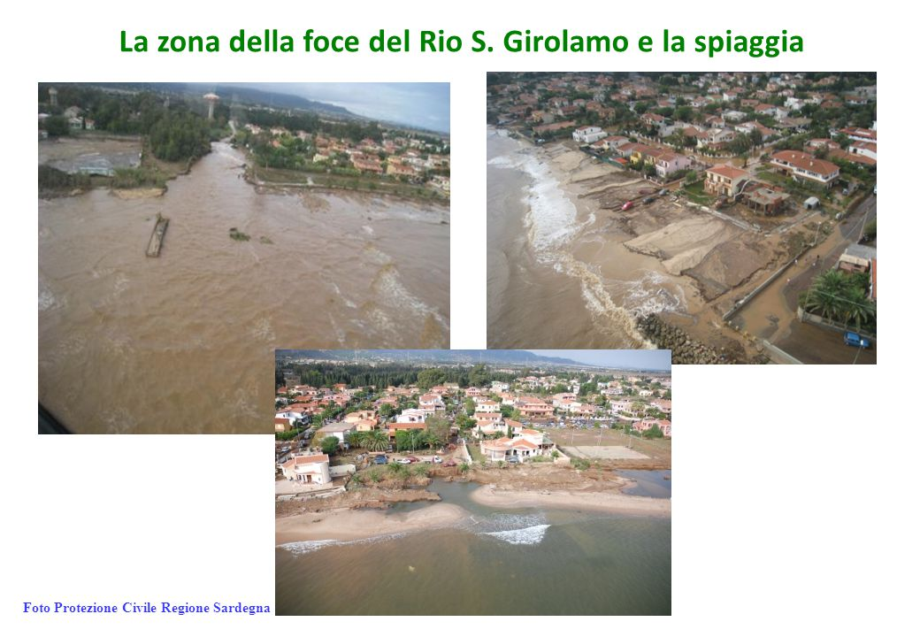 La zona della foce del Rio S. Girolamo e la spiaggia