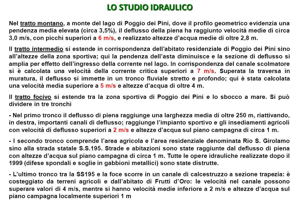 LO STUDIO IDRAULICO