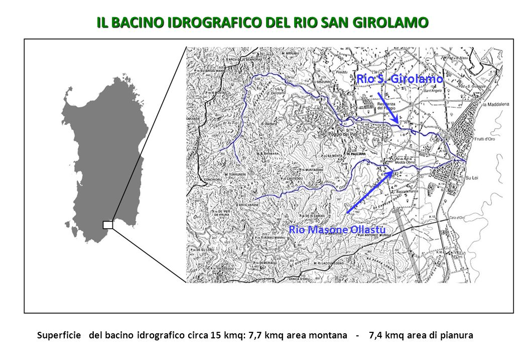IL BACINO IDROGRAFICO DEL RIO SAN GIROLAMO