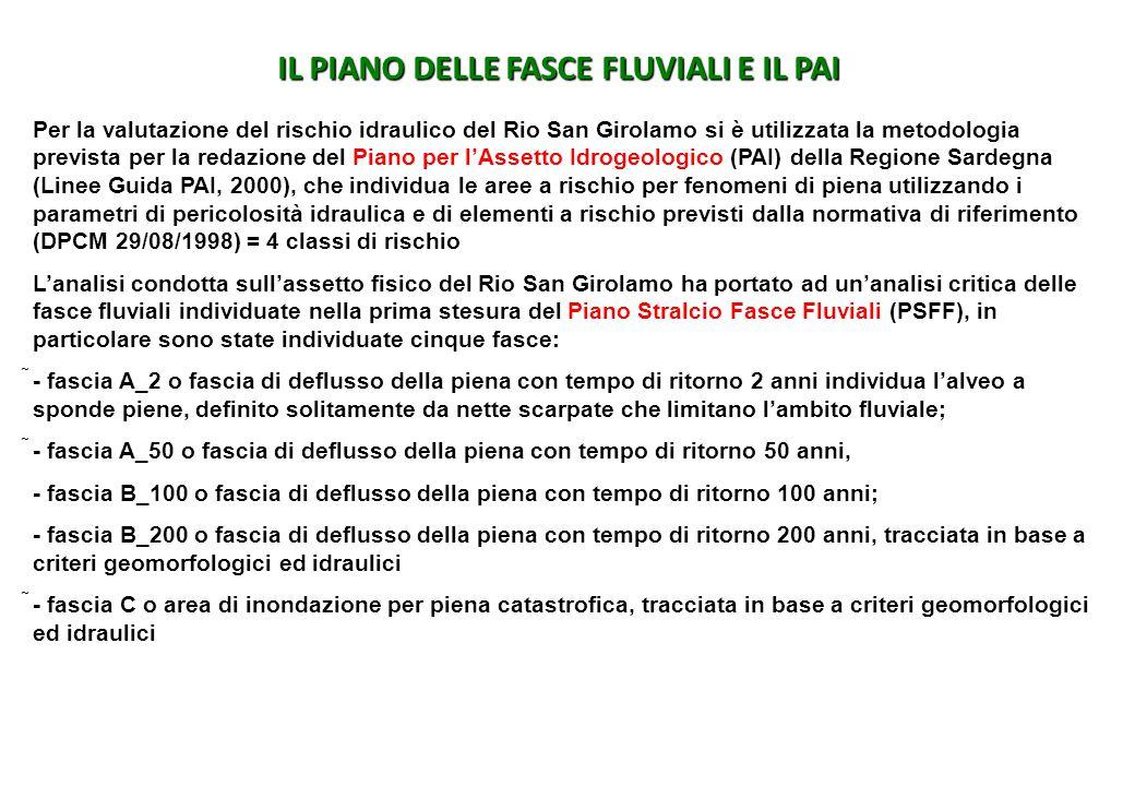 IL PIANO DELLE FASCE FLUVIALI E IL PAI