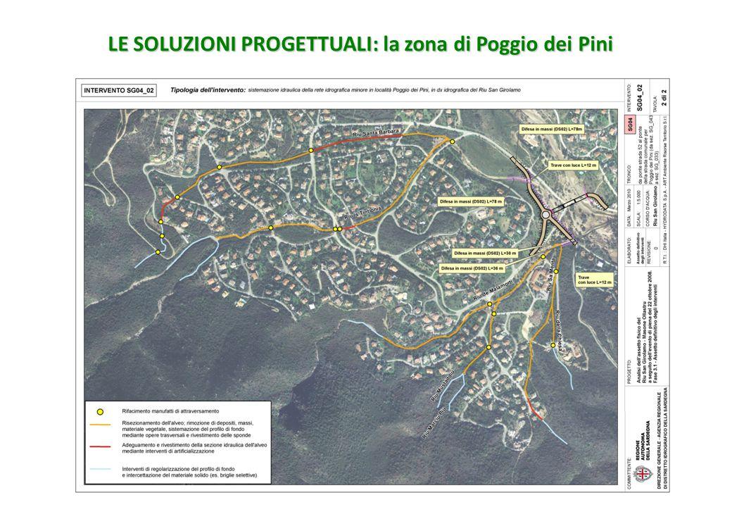 LE SOLUZIONI PROGETTUALI: la zona di Poggio dei Pini
