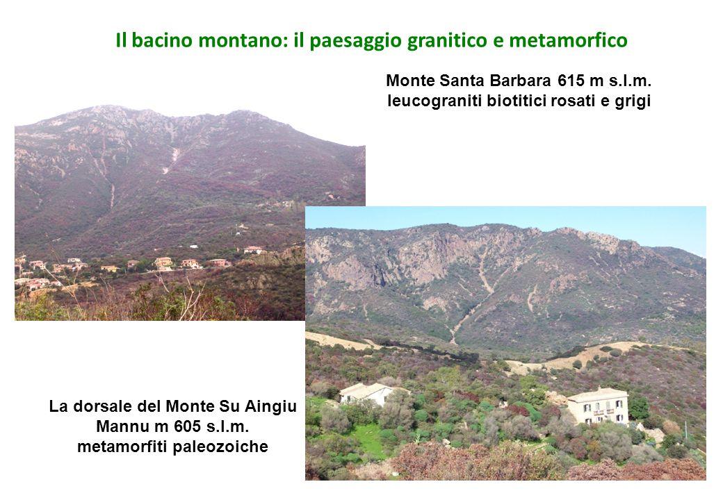 Il bacino montano: il paesaggio granitico e metamorfico