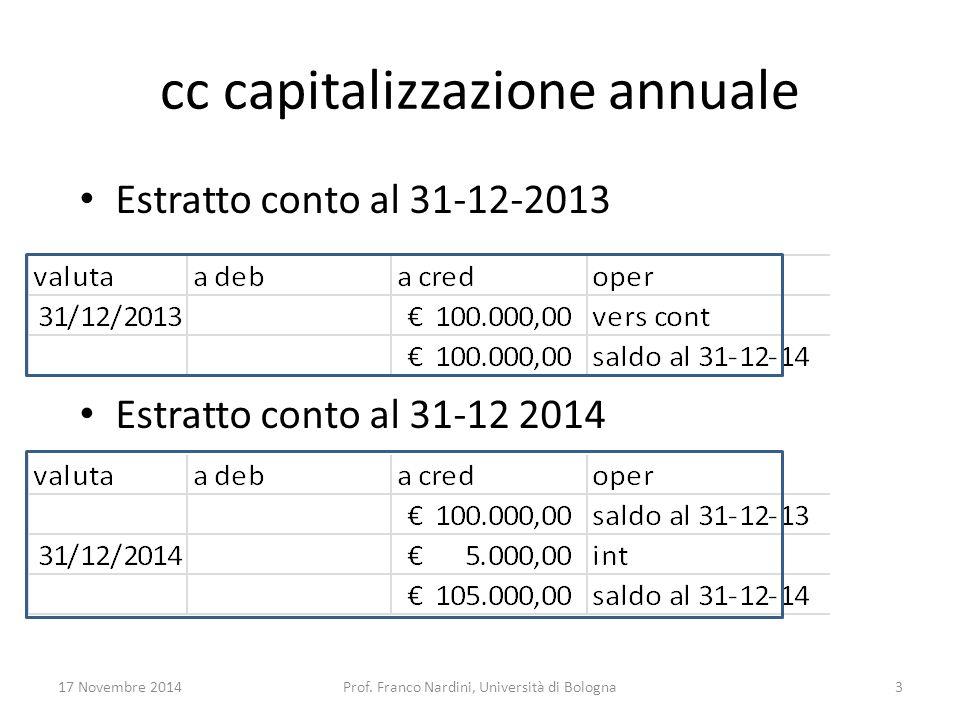 cc capitalizzazione annuale