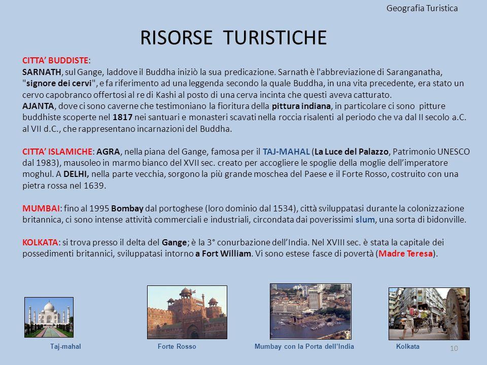 RISORSE TURISTICHE Geografia Turistica CITTA' BUDDISTE: