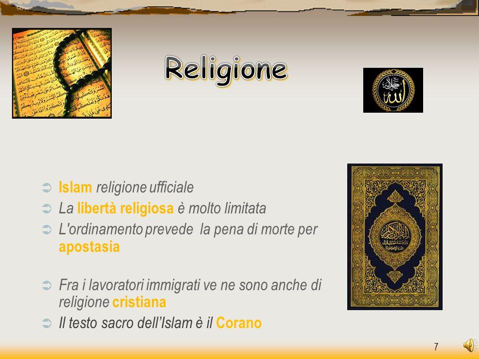 Religione Islam religione ufficiale