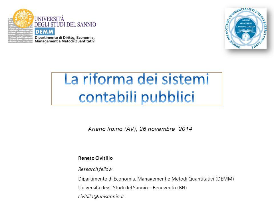 La riforma dei sistemi contabili pubblici