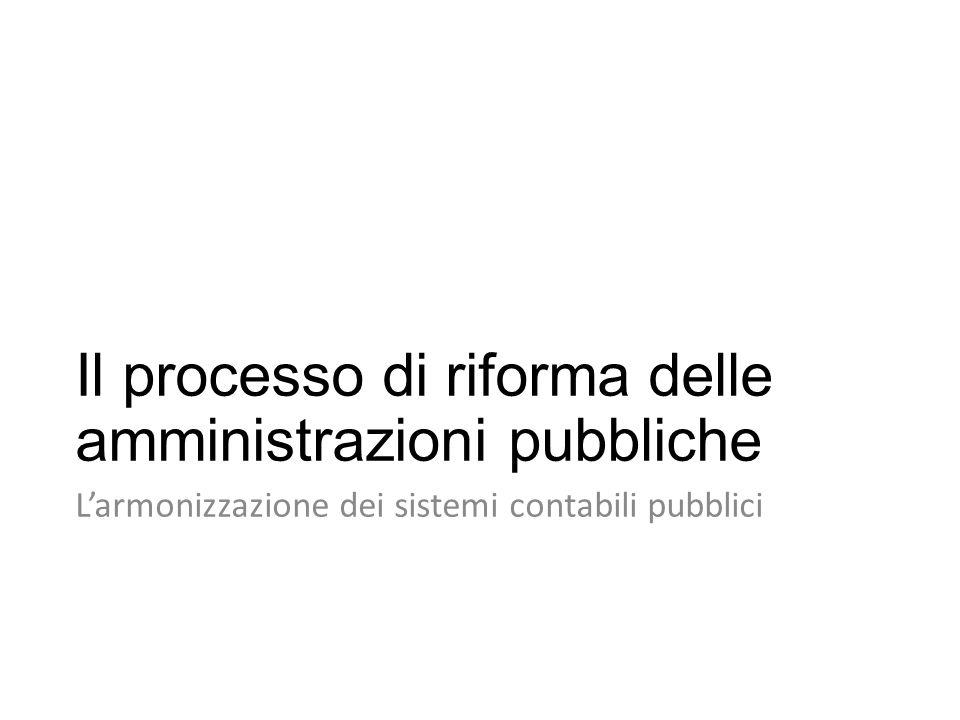 Il processo di riforma delle amministrazioni pubbliche