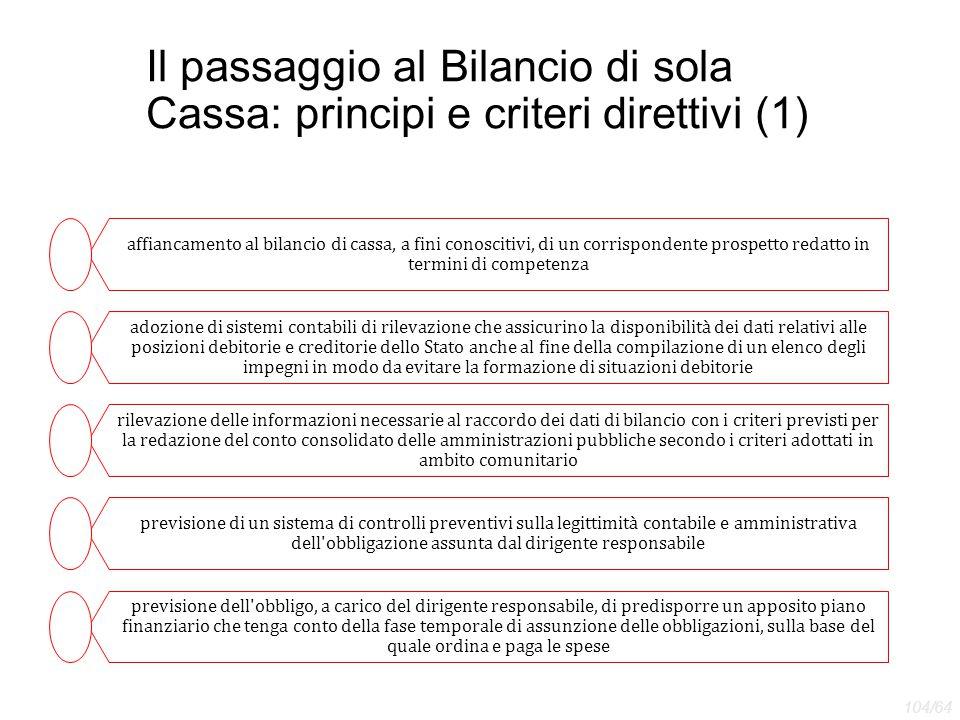 Il passaggio al Bilancio di sola Cassa: principi e criteri direttivi (1)