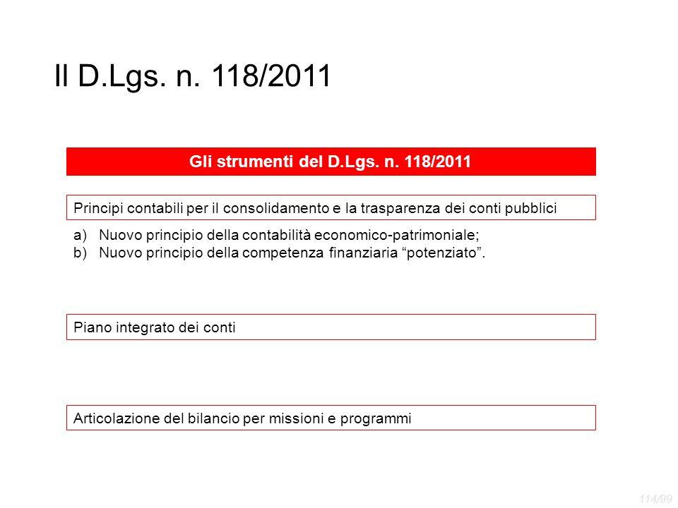 Gli strumenti del D.Lgs. n. 118/2011