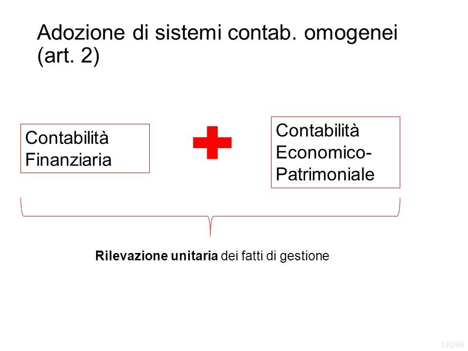 Adozione di sistemi contab. omogenei (art. 2)
