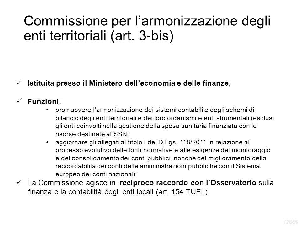 Commissione per l'armonizzazione degli enti territoriali (art. 3-bis)