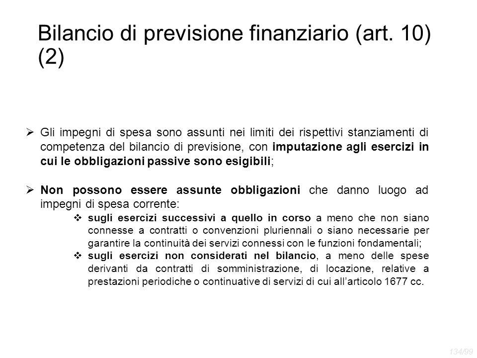 Bilancio di previsione finanziario (art. 10) (2)