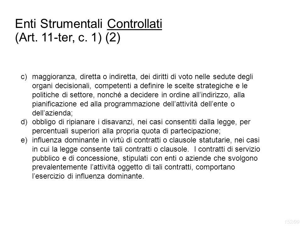 Enti Strumentali Controllati (Art. 11-ter, c. 1) (2)