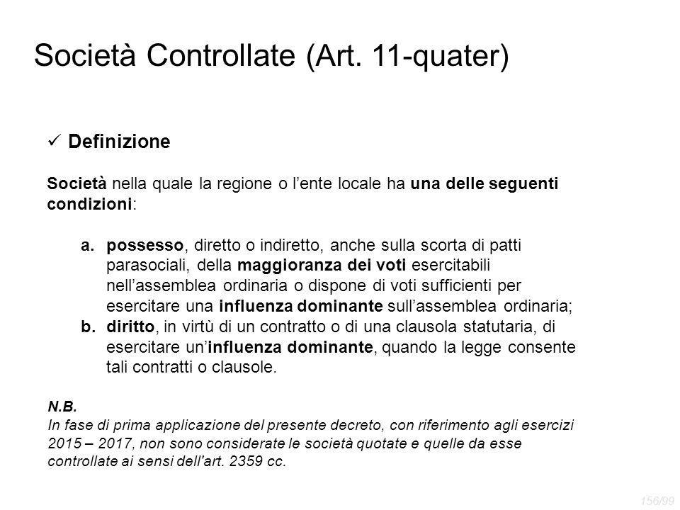 Società Controllate (Art. 11-quater)