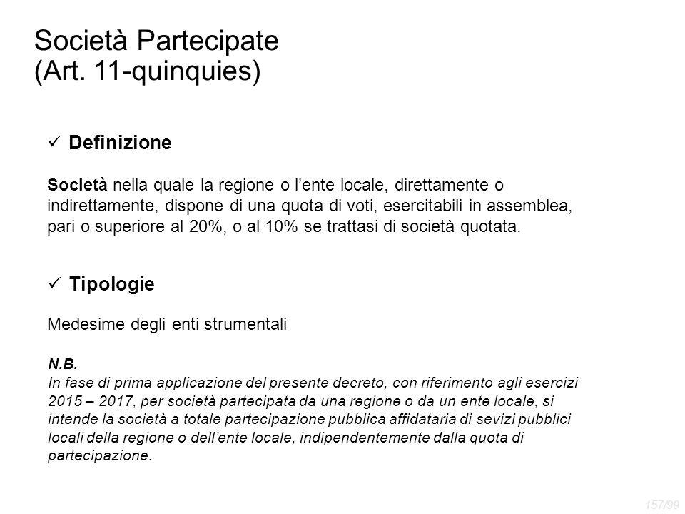 Società Partecipate (Art. 11-quinquies)