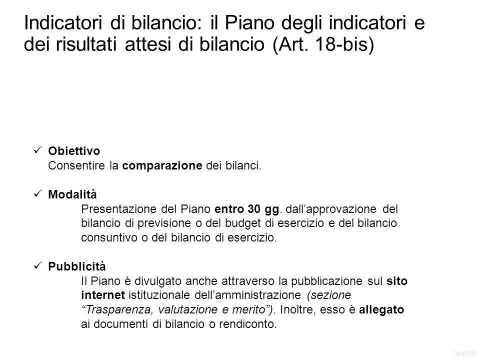 Indicatori di bilancio: il Piano degli indicatori e dei risultati attesi di bilancio (Art. 18-bis)