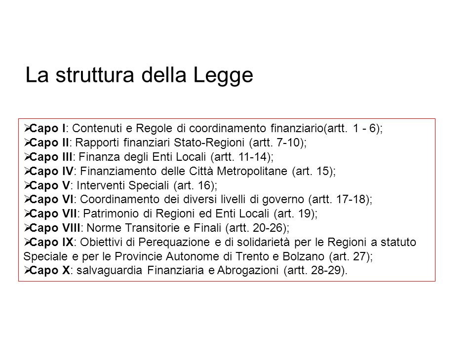La struttura della Legge