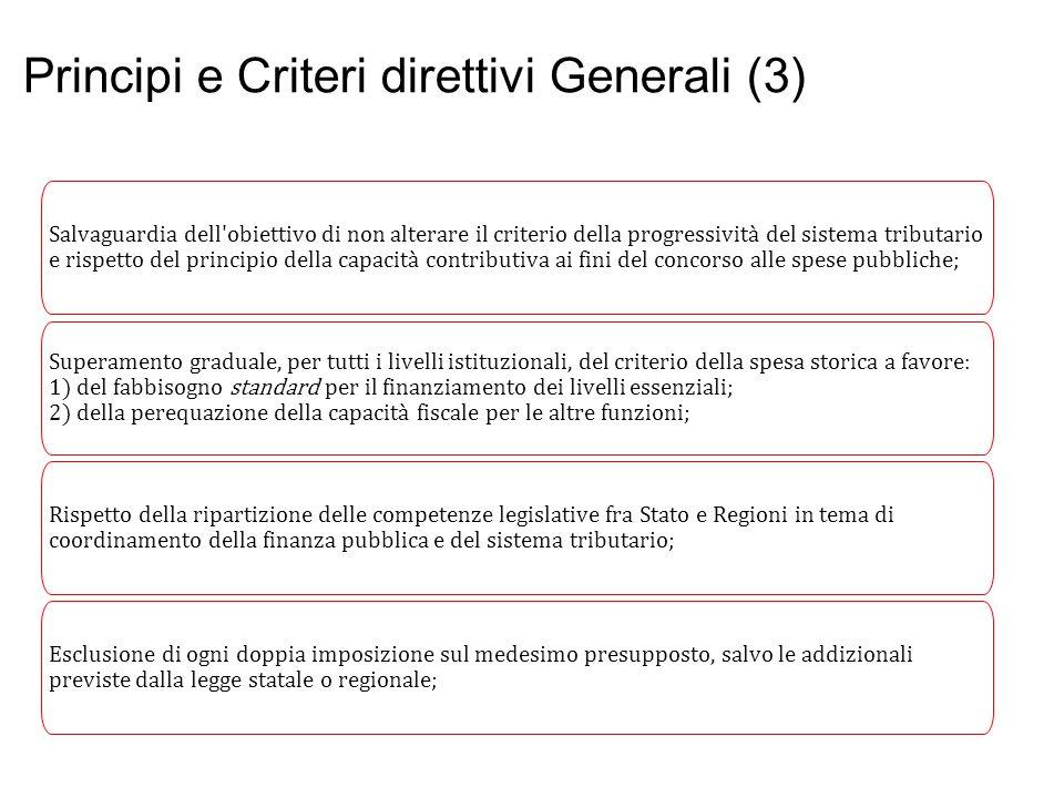 Principi e Criteri direttivi Generali (3)