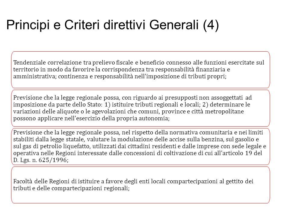Principi e Criteri direttivi Generali (4)