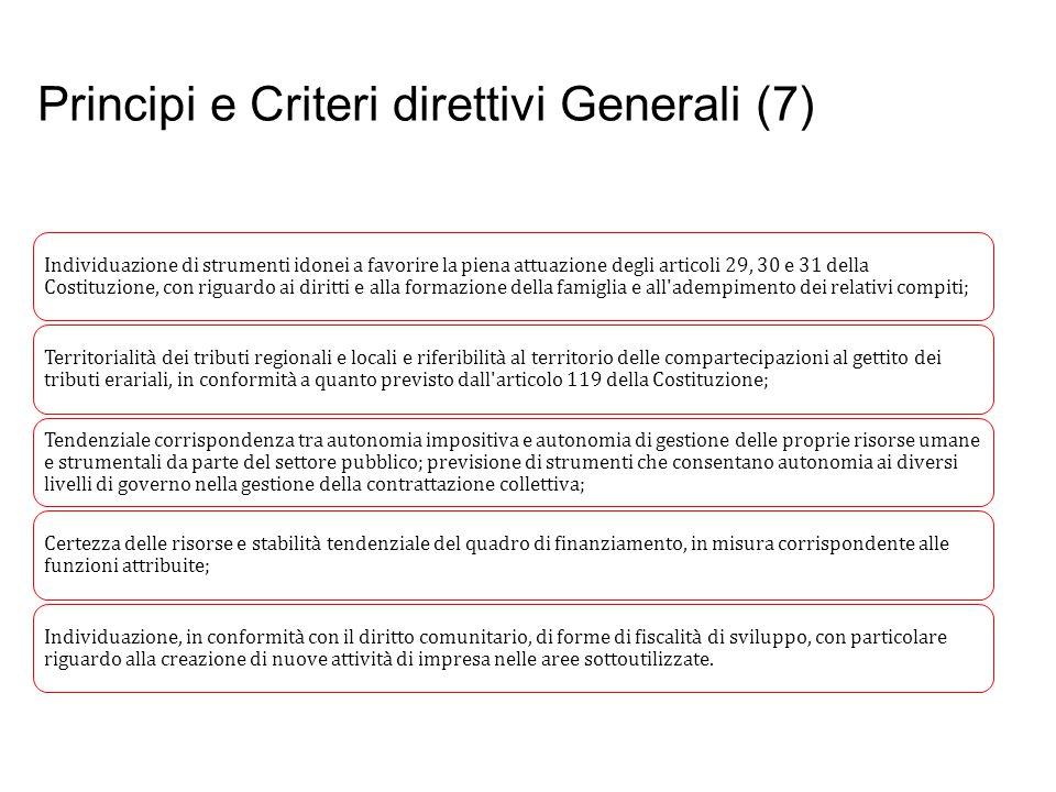 Principi e Criteri direttivi Generali (7)
