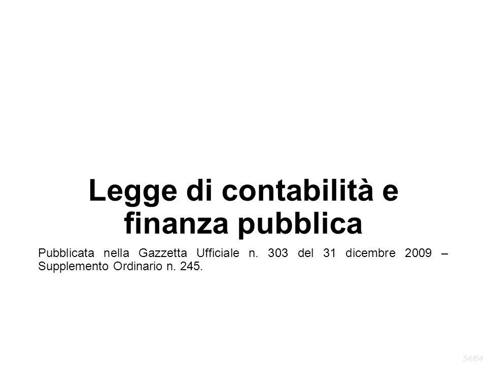 Legge di contabilità e finanza pubblica