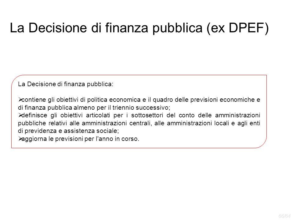 La Decisione di finanza pubblica (ex DPEF)