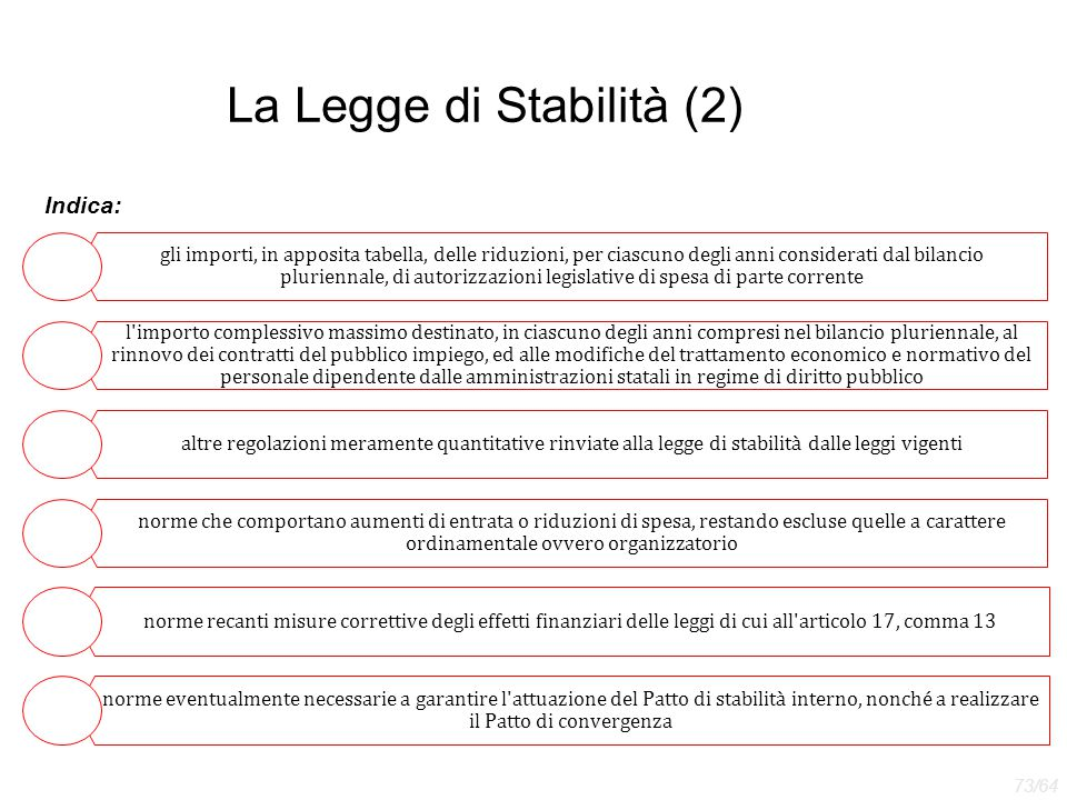 La Legge di Stabilità (2)