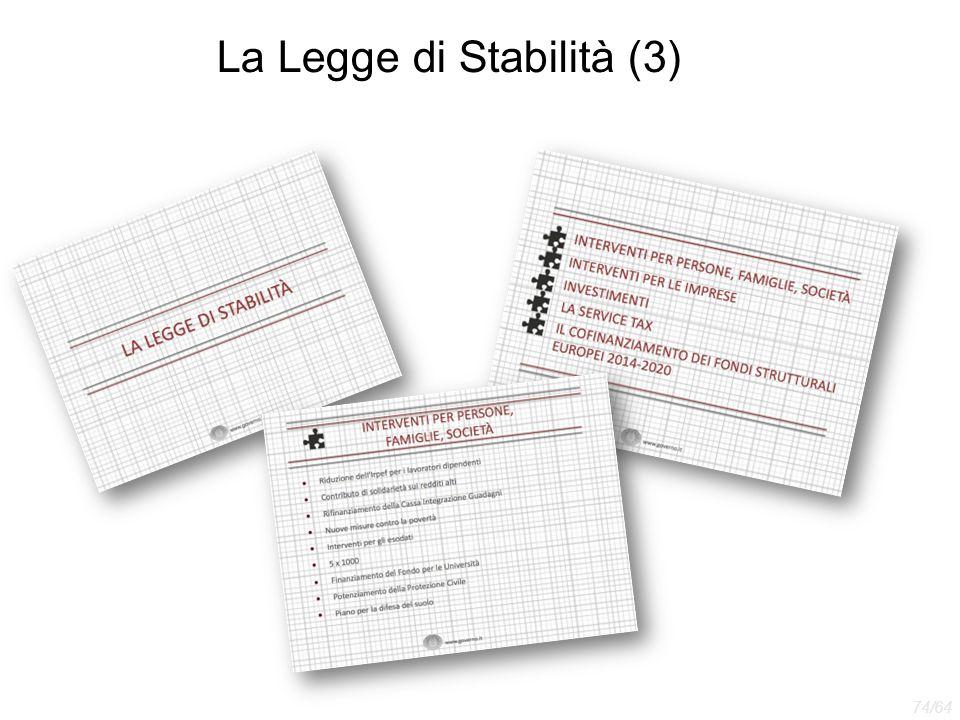 La Legge di Stabilità (3)