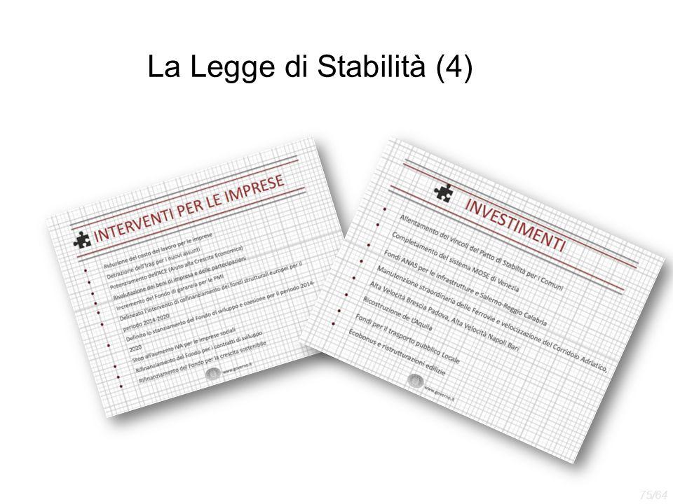 La Legge di Stabilità (4)