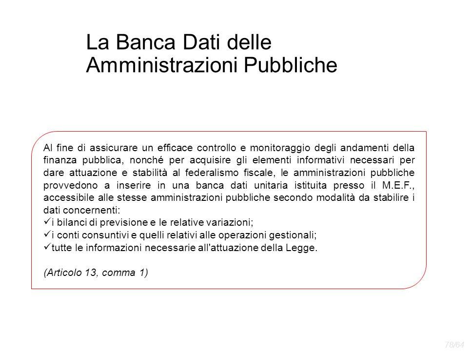 La Banca Dati delle Amministrazioni Pubbliche