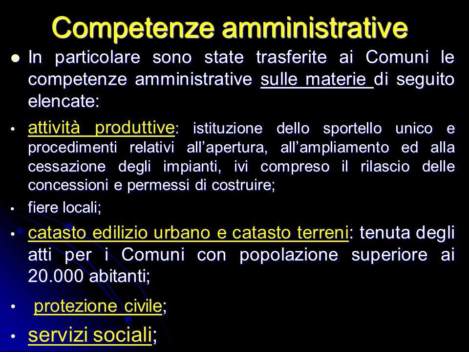 Competenze amministrative