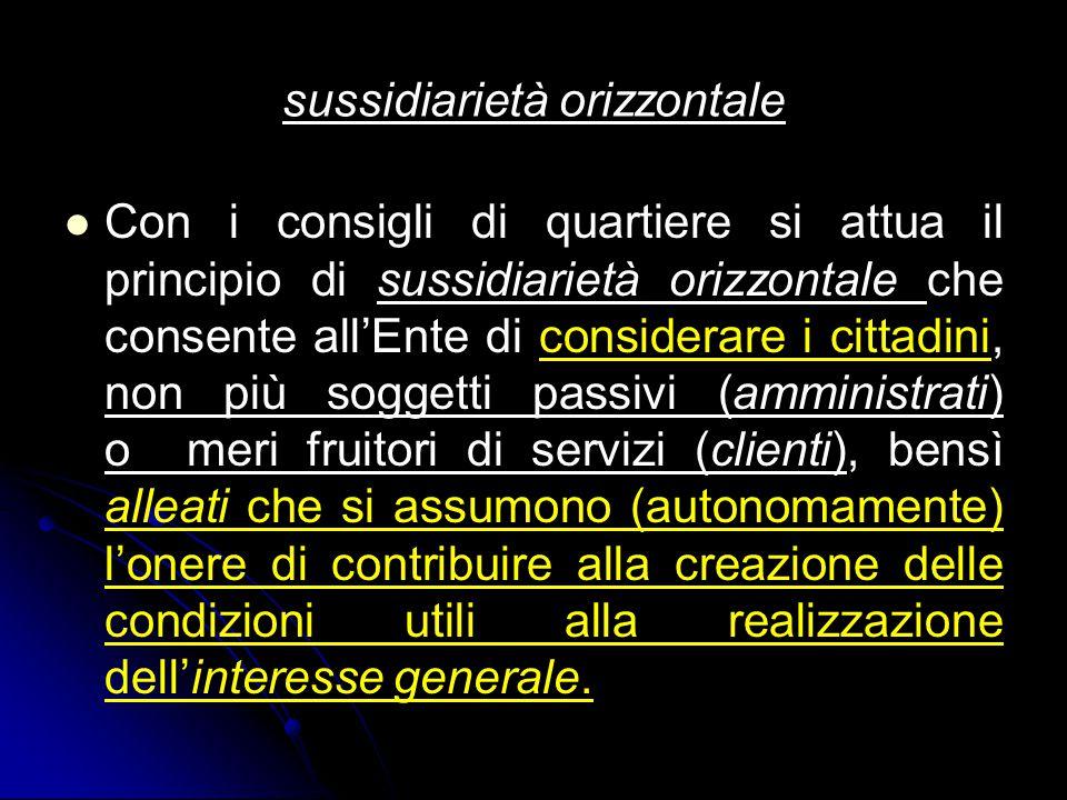 sussidiarietà orizzontale