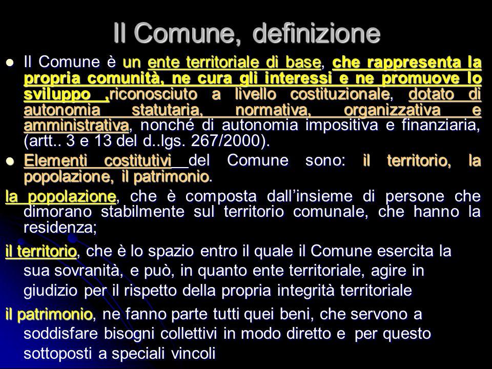 Il Comune, definizione